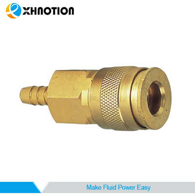 Xhnotion USA Universal Brass Coupling Quick Connector Barb Socket Coupler