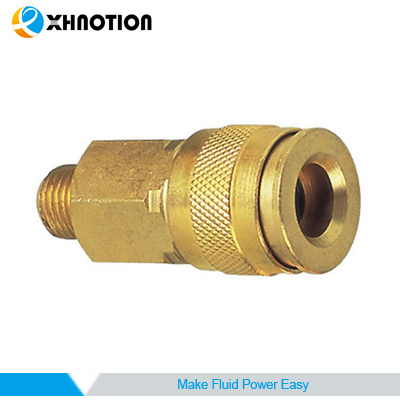 Automotive Type Coupler Male Socket Chrome-Plated