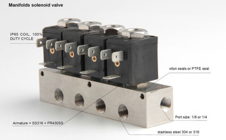 Manifold Solenoid Valve for Acid Fluid