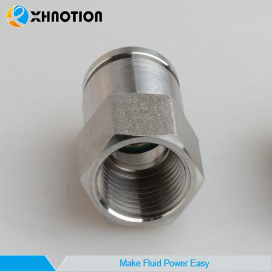 "Metal Push in Connector Female Straight Fitting 1/2""NPT Thread"