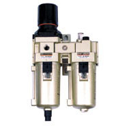 Pneumatic Two Combination Air Filter Lubricator Treatment Unit