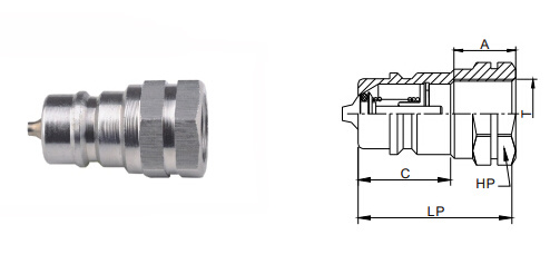 Stainless Steel Hydraulic Fitting for Fuel