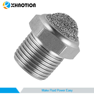 Ss316 Pneumatic Fitting Metal Silencer Mesh Muffler