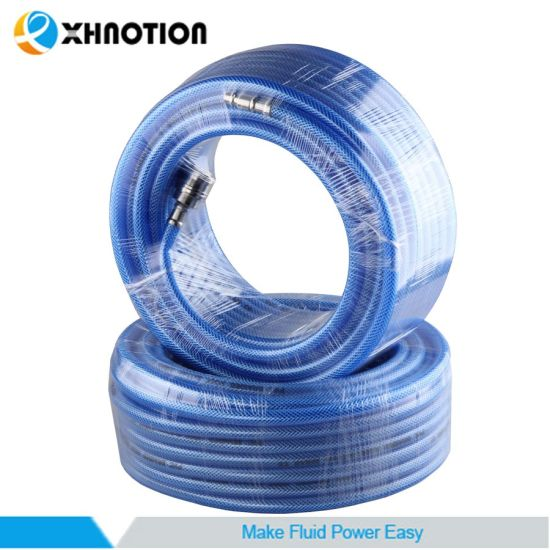 Good Quantity PVC Braided High Pressure Air Hose with Germany Socket Plug