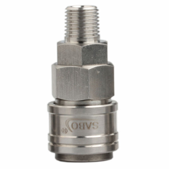 Sabo Xhnotion 1/4, 3/8, 1/2 Male Socket Stainless Steel SS304 Quick Coupling, Air Coupler, Compressor Pneumatic Coupling