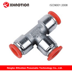 Pneumatic Brass Push in Fitting with Plastic Sleeve Bpe