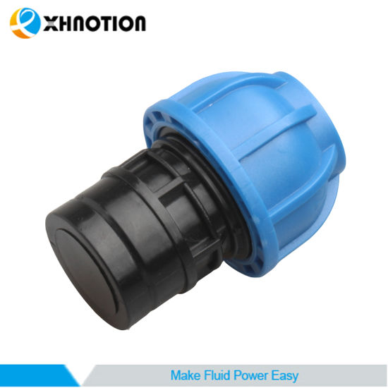 Plastic Plumbing Push-to-Connect Fitting End Cap Adapter for Compressed Air