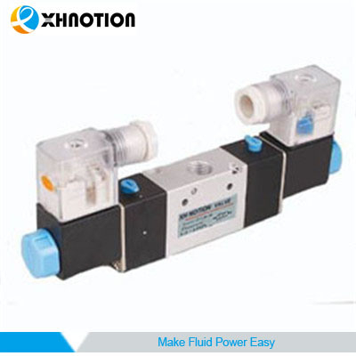 Xhnotion Pneumatic 3 Way 2 Position Double Head Solenoid Valve