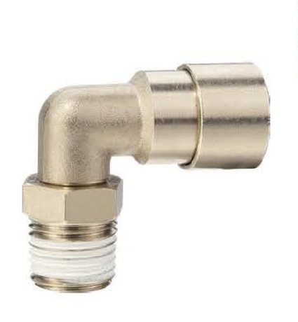 Anti-Spark Push in Fittings Flame Resistance Automotive Male Elbow