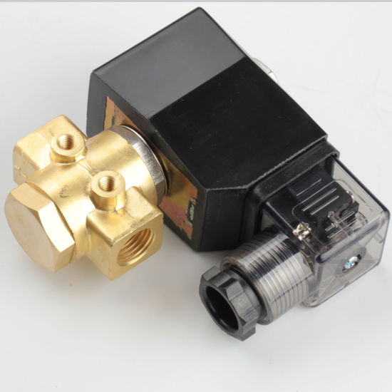 Brass High Pressure 90 Bar Solenoid Valve, AC220V, Normally Open Valve for Air Water Oil